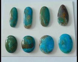 8 PCS Natural Blue Opal Gemstone Cabochons,108ct