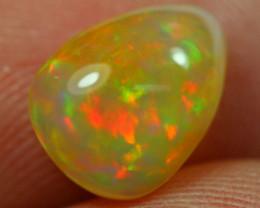 1.44Ct Orange Broadflash Color Ethiopian Welo Opal