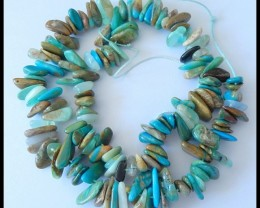 41CM Natural Peruvian Blue Opal Gemstone Beads Strand,294ct