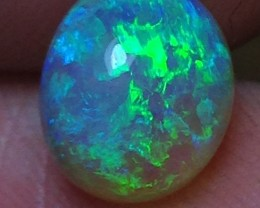3.04ct Lightning Ridge Gem Black Crystal Opal LR31