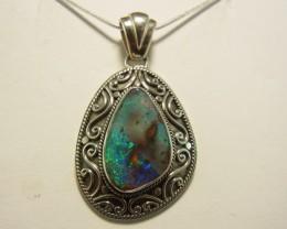 Good solid boulder opal pendant