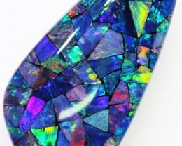 13.9 Cts Gem Australian Mosaic Triplet Opal BU2398