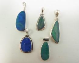 5 great doublet opal pendants