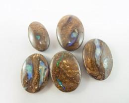 5 drilled boulder opal stones