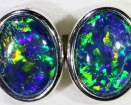 Gem Opal Triplet set in Silver Earring SB 296
