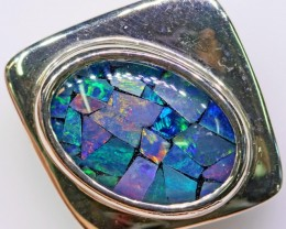 Cute Opal Mosaic Pendant in Sterling silver  SB 307
