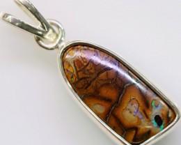 Cute  Boulder Opal Pendant in Sterling silver  SB 310