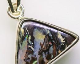 Cute  Boulder Opal Pendant in Sterling silver  SB 311