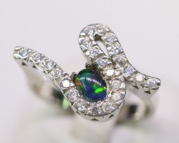 Cute   Opal triplet  Ring in Sterling silver  SB 314