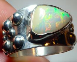 5.50size Natural Ethiopian Welo Specimen Opal .925 Sterling Silver