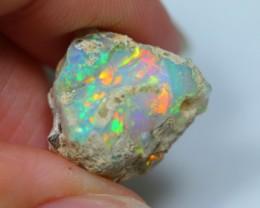 9cts Natural Neon Multi-color Ethiopian Welo Rough Specimen Stone