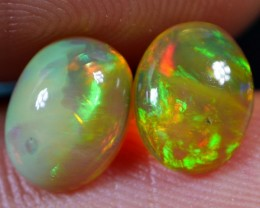 1.50 CRT BRILLIANT PAIR DARK BASE DELUXE ROLLING RIBBON NEON WELO OPAL