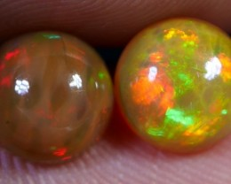 BRILLIANT PAIR ROUND 3D DELUXE NEON HONEYCOMB FIRE WELO OPAL 1.90 CRT