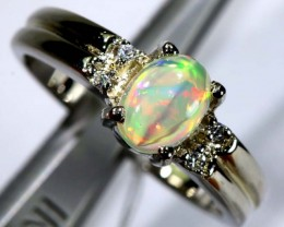 13.10 CTS ETHIOPIAN OPAL SILVER RING OF-1608