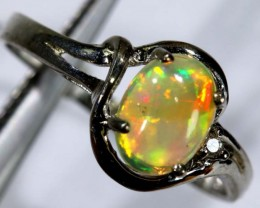 9.50 CTS ETHIOPIAN OPAL SILVER RING OF-1610