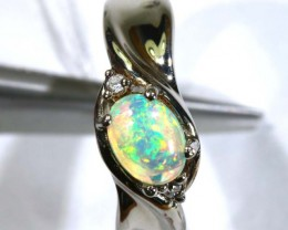 18.20 CTS ETHIOPIAN OPAL SILVER RING OF-1611