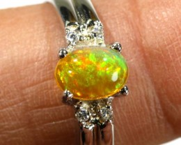 13.20 CTS ETHIOPIAN OPAL SILVER RING OF-1625