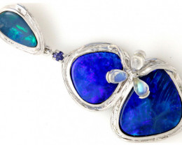 86.75 CTS SILVER DOUBLET OPAL PENDANT OF-1633
