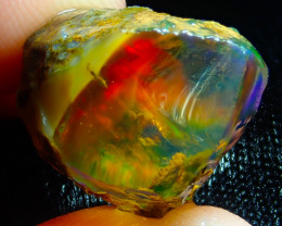 $1 NR Auction 22.06ct Ethiopian Crystal Rough Opal Specimen