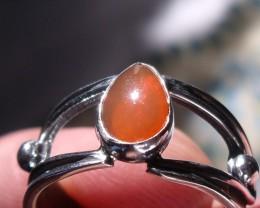 Bezel set Natural Solid opal gem taxco silver ring sz 6.25