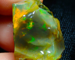 25.14ct Ethiopian Crystal Rough Opal Specimen