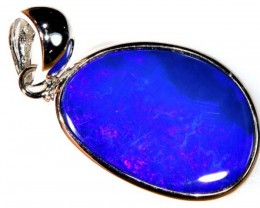 14.05 CTS SILVER DOUBLET OPAL PENDANT OF-1666