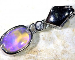 5.95 CTS SILVER CRYSTAL OPAL PENDANT OF-1676