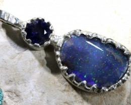 31 CTS BOULDER OPAL STERLING SILVER PENDANT OF-1690