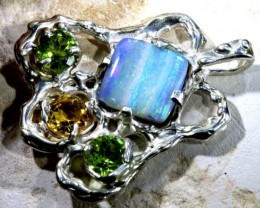38.45 CTS BOULDER OPAL STERLING SILVER PENDANT OF-1691