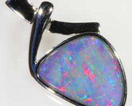 Stylish Doublet Opal Pendant in Sterling Silver  SB 337
