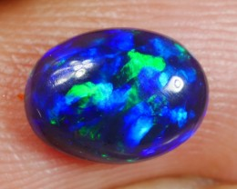 1.0 Ct Blue Fire Smoked Opal