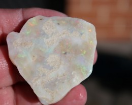 Multicolored MIntabie Opal on Sandstone 143 carats