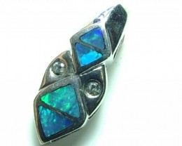 5 CTS DOUBLET OPAL SILVER PENDENT OF-1756