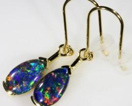 Stylish Triplet Opal Earring set in 9 k Gold  SB 368