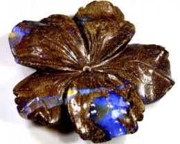 117.6CTS BOULDER OPAL CARVING LO-4010