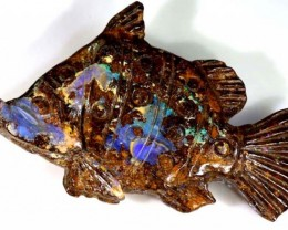 39.53CTS BOULDER OPAL CARVING LO-4011