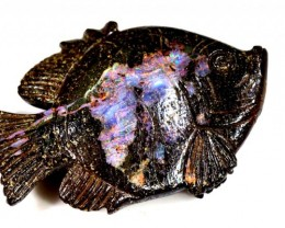 87.62CTS BOULDER OPAL CARVING LO-4012