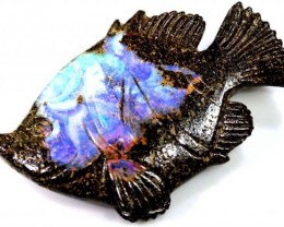 62.58CTS BOULDER OPAL CARVING LO-4017