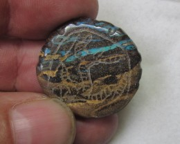45.4 cts Aboriginal art on boulder Opal ex Bertas Opal collection PPP 501