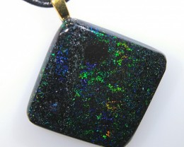 30ct Solid Treated Andamooka Matrix Opal Necklace
