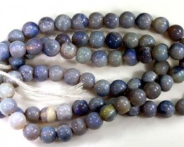 51.8 CTS BLACK OPAL BEADS STRAND TBO-5145