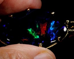 FREE SHIPPING  64.95 CTS [MASSIVE] BLACK OPAL FROM LR,