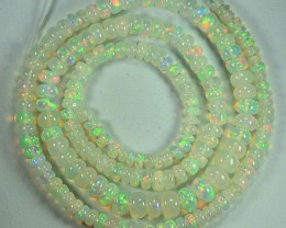 32.35 Cts Natural Multi Color Play Ethiopian Opal Beads