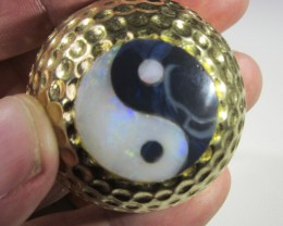 1350 Cts Ying n Yang golf ball  ex Bertas Opal collection PPP532