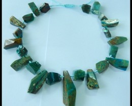 568.5Ct Natural Peruvian Opal Faceted Blue Opal Beaded Necklace,Adjustable!