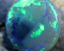 8.15 CTS BLACK OPAL CABOCHON CUT STONE ELECTRIC D552