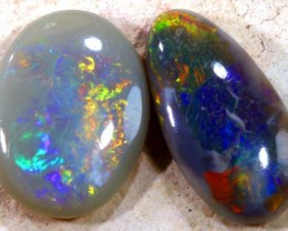 N6-  1.05CTS Solid Opal Lightning Ridge 2 pieces ANO-475
