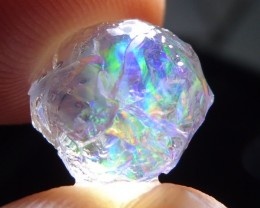 5ct Mexican Rough Crystal Opal Bright Fire Multi-Color