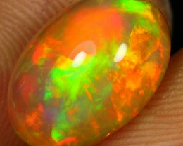 3.25cts AAA EXTREME MULTI FLASH FIRE Natural Untreated Ethiopian Welo Opal