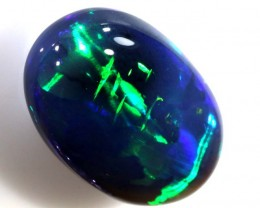 N-1 12.11 CTS QUALITY BLACK OPAL CHINESE WRITING LIGHTNINGRIDGE INV-380